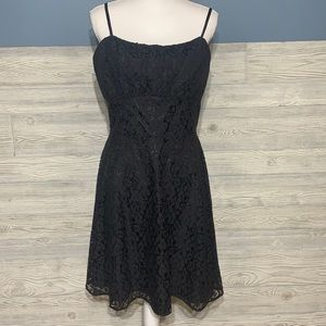 NWT Gorgeous black lace overlay cocktail d…